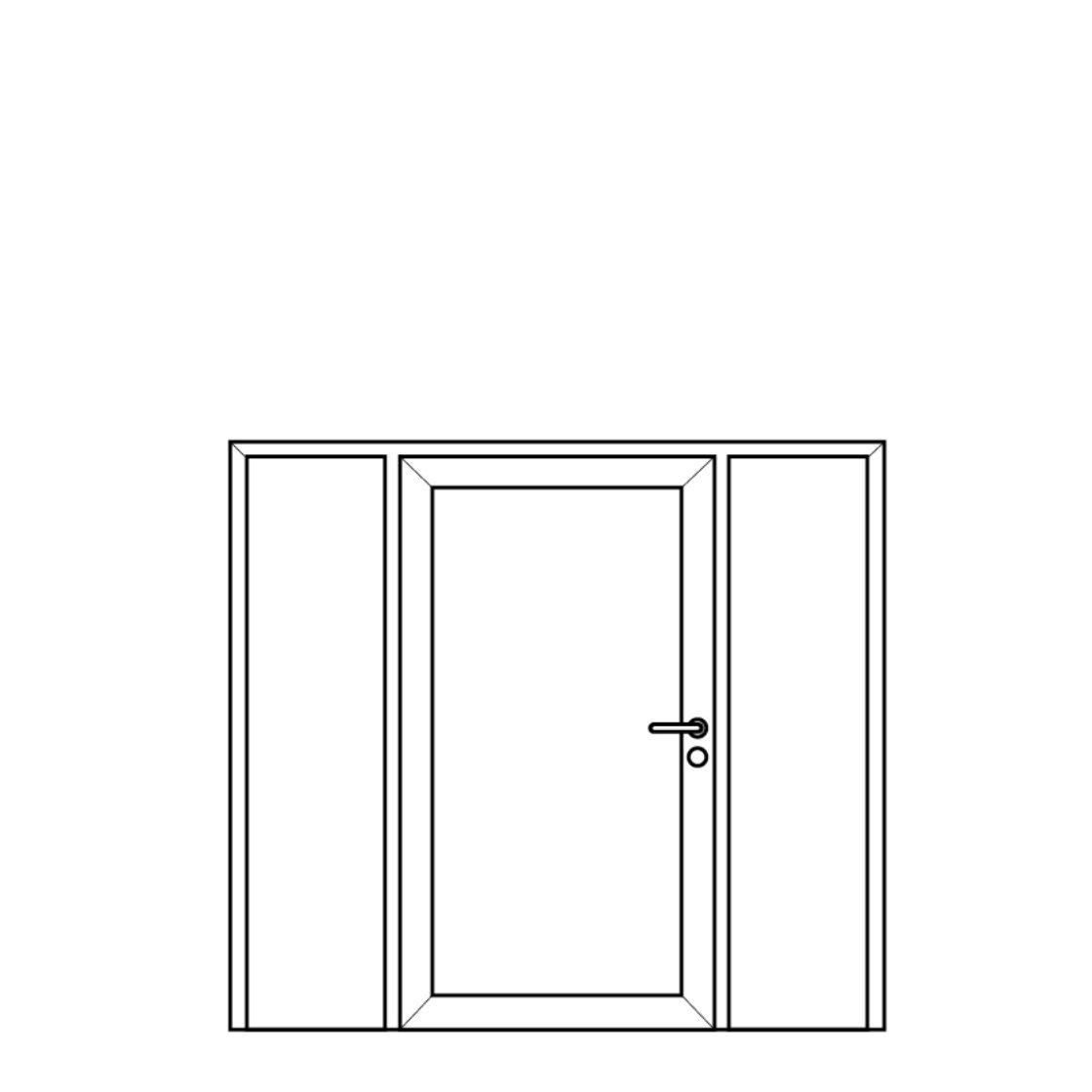 NorDan Alu Door Config Fixed Single Fixed