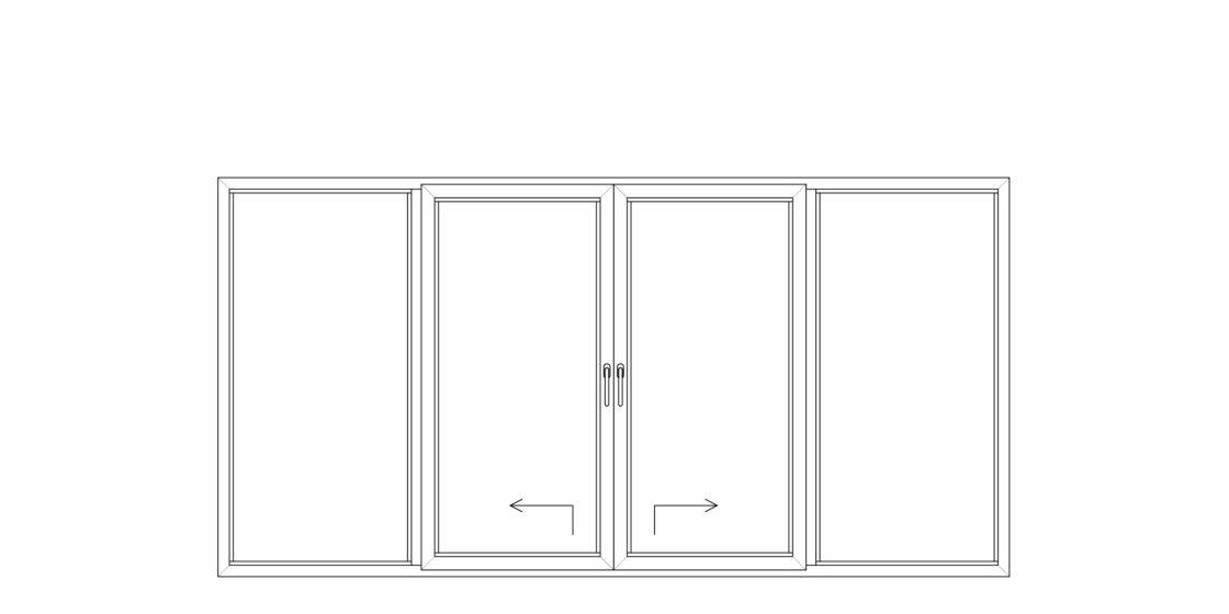 NorDan upvc door config double Slidingdoor